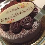 2015年度、誕生日を迎えました。神戸メリケンパークオリエンタルホテルにて