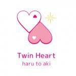 ツインハート(Twin heart haru to aki)のタグ用ロゴを作りました♡
