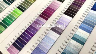 ブラザーの刺繍ミシンPR1050Xに対応しているミシン刺繍糸の比較
