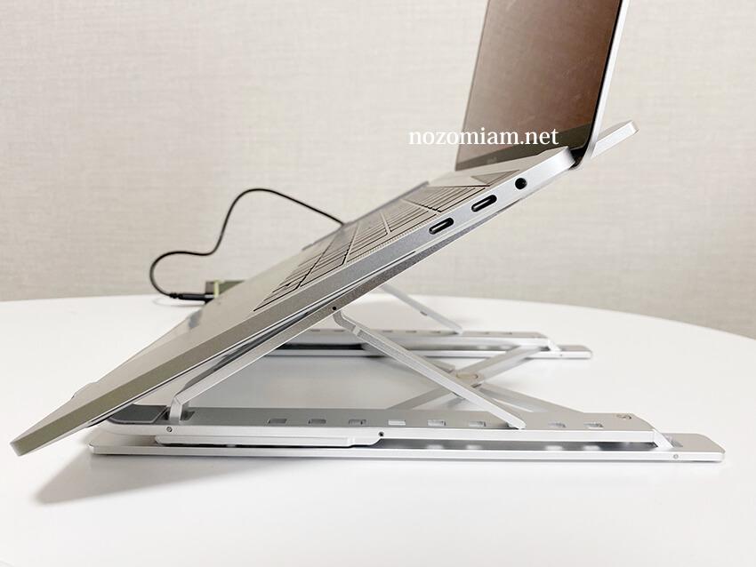 【テレワ/ノマド】折り畳みノートPCスタンドが優秀すぎて愛用中